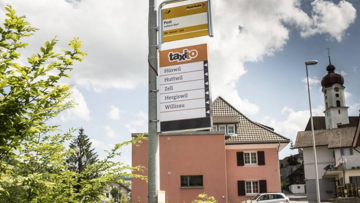 Luthern Post heisst eine der vier Taxito-Haltestellen im Luzerner Napfgebiet.