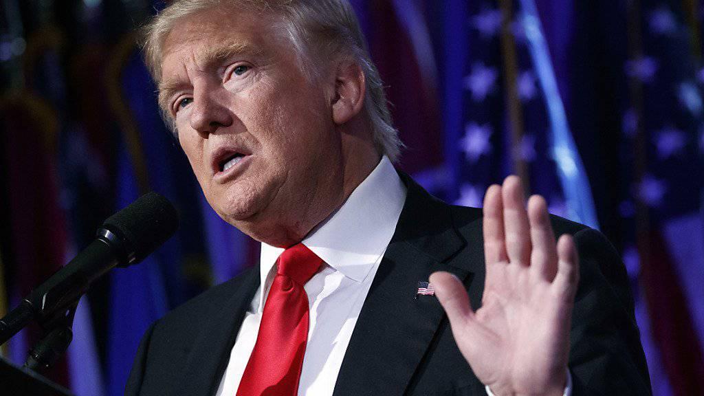 Seine Ankündigungen könnten die Inflationsrate nach oben treiben: Der künftige US-Präsident Donald Trump. (Archiv)