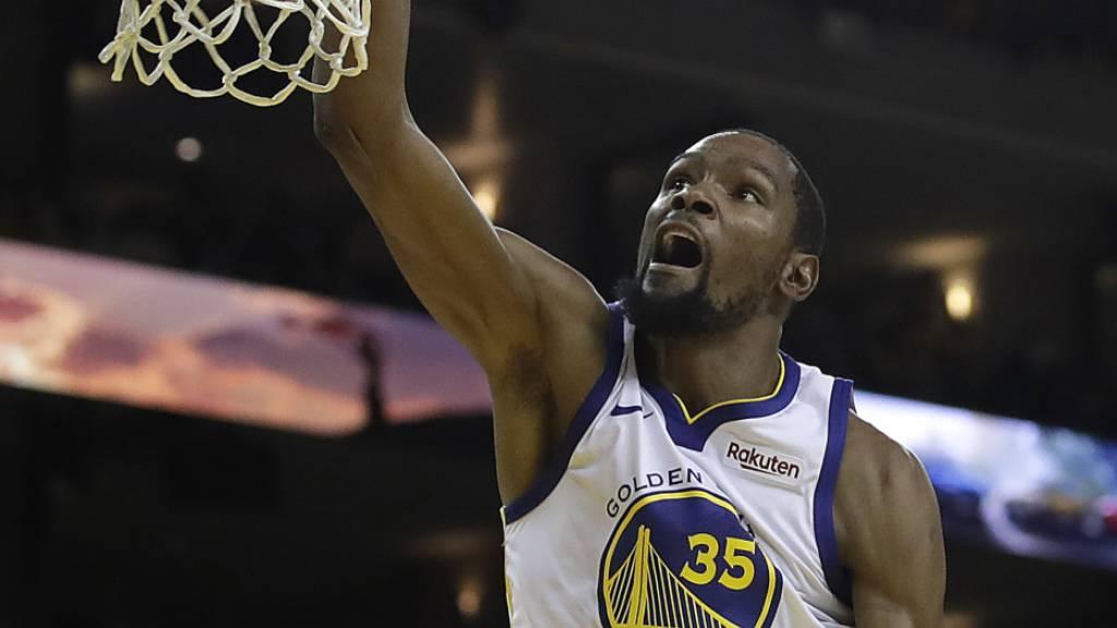 Basketball-Superstar Kevin Durant, hier noch im Dress der Golden State Warriors