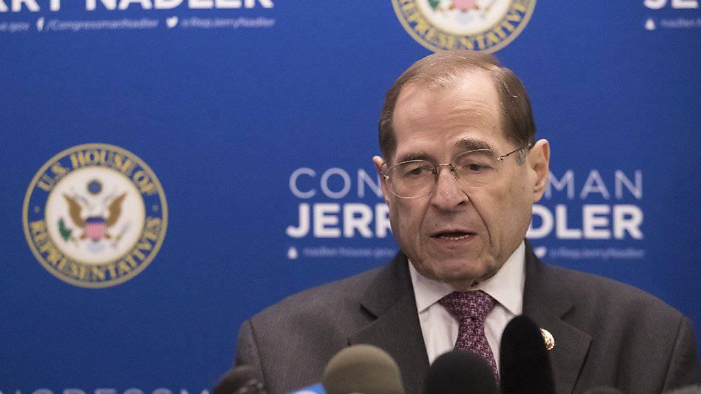 Jerrold Nadler, der Vorsitzende des Justizausschusses im US- Repräsentantenhaus: Die Trump-Administration hat die Behinderung der Kongressarbeit in eine neue Dimension getrieben.(Archivbild)
