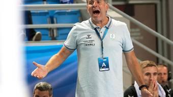 Überraschender Punktverlust: Meister Wacker Thun mit Coach Martin Rubin kam gegen GC/Amicitia nur zu einem Remis