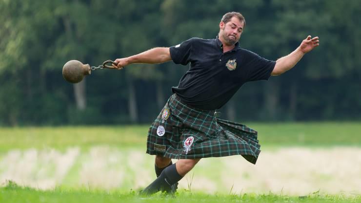 OK-Chef Simeon Brügger an den letztjährigen Highland Games.