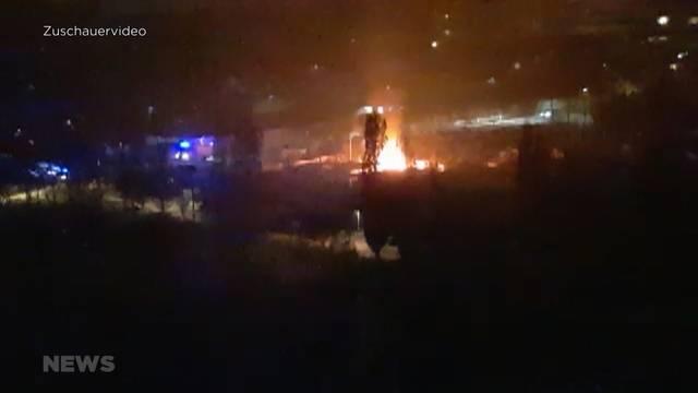 Gartenhaus in Wittigkofen explodiert