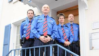 Feldweibel Reto Bergamin (Zweiter von links) und sein Team.