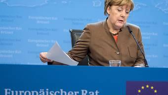 Die deutsche Kanzlerin Angela Merkel verteidigt am Gipfeltreffen in Brüssel am Freitag das umstrittene russisch-deutsche Erdgas-Projekt Nord Stream 2.