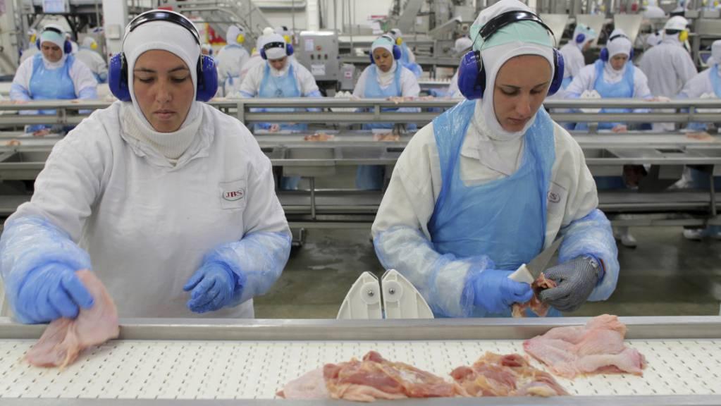 Die amerikanische Tochter des brasilianischen Fleischkonzerns JBS ist Opfer eine Cyber-Attacke geworden. (Archivbild)