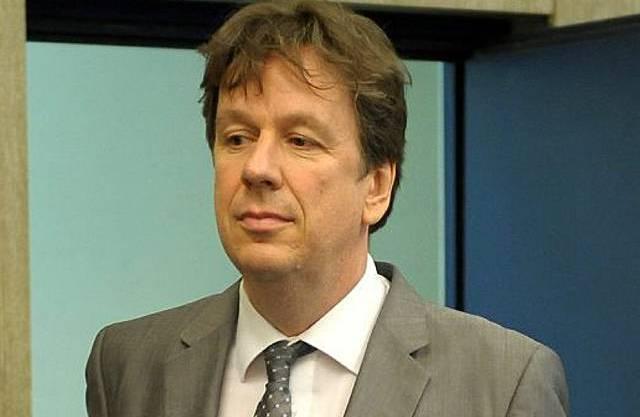 Kachelmann vor der Urteilsverkündung am Mannheimer Landgericht