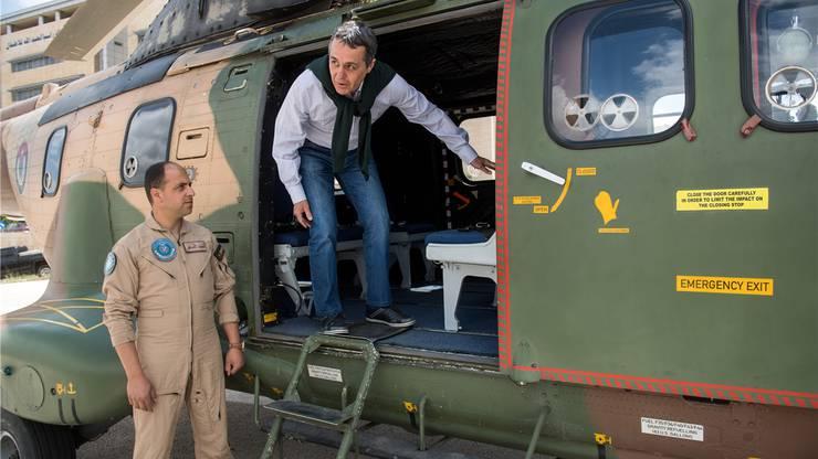 Aussenminister Ignazio Cassis unterwegs in Jordanien.