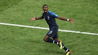 Torjubel im WM-Final: Die Schuhe, mit denen Paul Pogba das 3:1 gegen Kroatien erzielte, wurden in Paris für 30'000 Euro versteigert