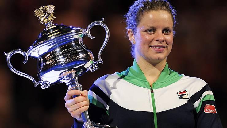 Kim Clijsters gewann einen ihrer vier Grand-Slam-Titel im Einzel 2011 am Australian Open in Melbourne