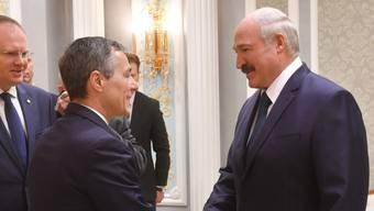 Vor der offiziellen Eröffnung der Schweizer Botschaft in Minsk wurde Aussenminister Ignazio Cassis vom weissrussischen Präsidenten Alexander Lukaschenko zum bilateralen Gespräch empfangen.