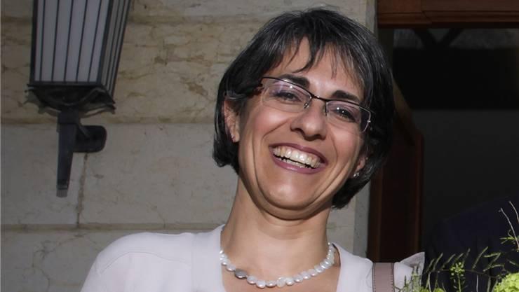 Grossratspräsidentin Kathrin Scholl-Debrunner wird am nächsten Dienstag auf Schloss Lenzburg gefeiert
