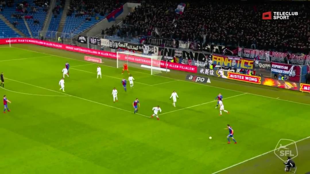 Super League, 2018/19, 32. Runde, FC Basel – FC Zürich, 69. Minute: Tor von Ricky van Wolfswinkel.