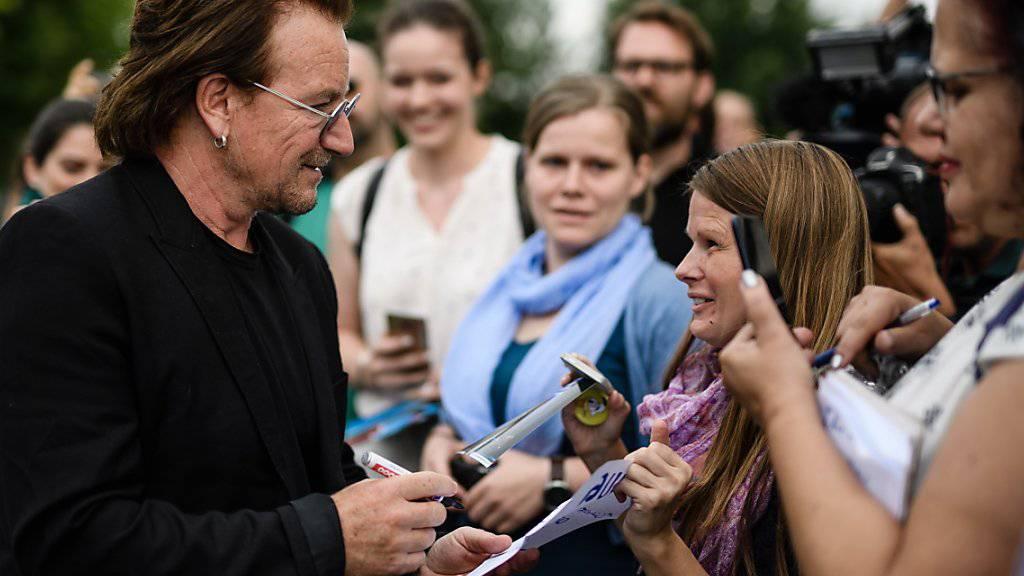 U2-Sänger Bono verliert seine Stimme