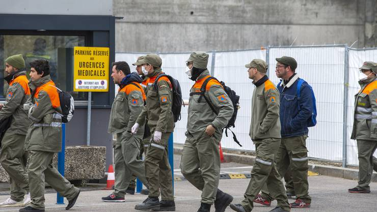 Zivilschützer in Genf im Einsatz.