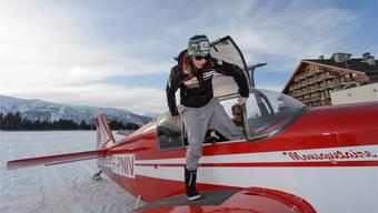 Die Leidenschaft von Dominique Gisin ist das Fliegen: Zum Abschluss ihrer Ski-Karriere hob sie in Méribel ab.
