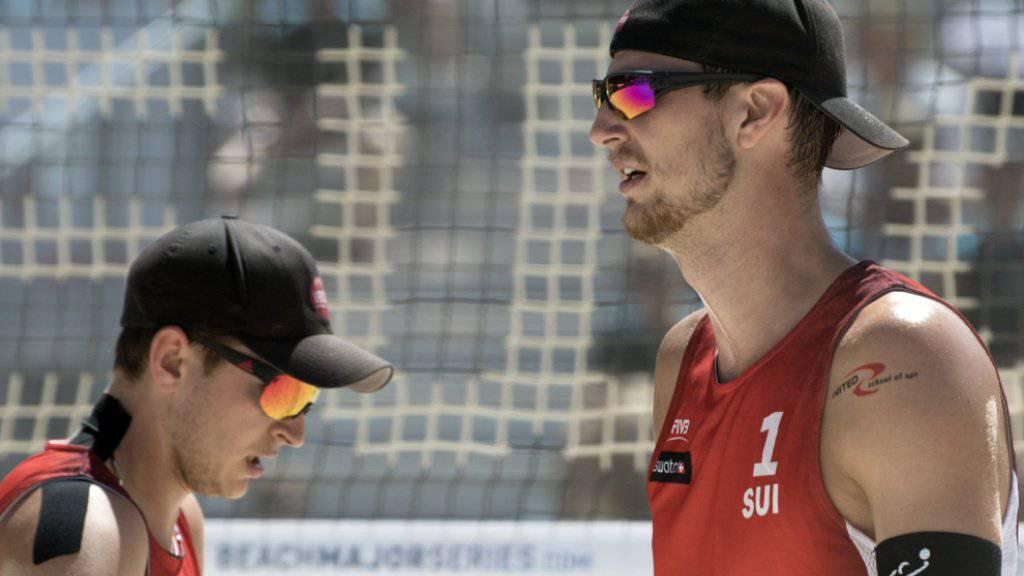Adrian Heidrich (rechts) und Mirco Gerson verlieren ihr zweites Spiel in Hamburg