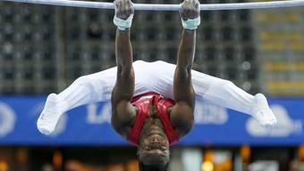 Überzeugend turnte Henji Mboyo und steigt als Dritter in den Mehrkampf-Final