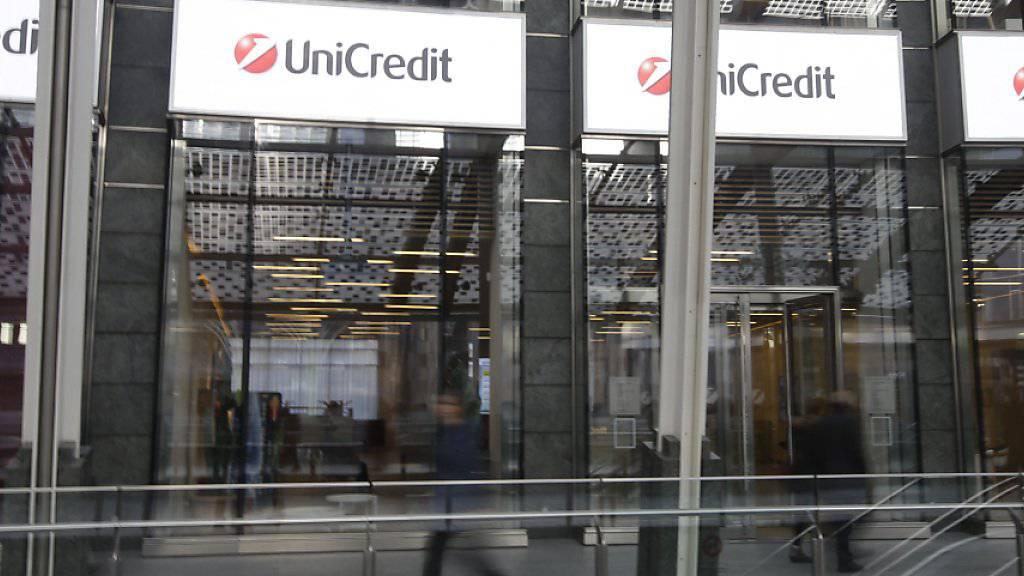 Filiale der UniCredit in Milano: Italiens grösste Bank hat sich mit den Gewerkschaften auf den Abbau von 3900 Jobs im Land geeinigt. (Archiv)