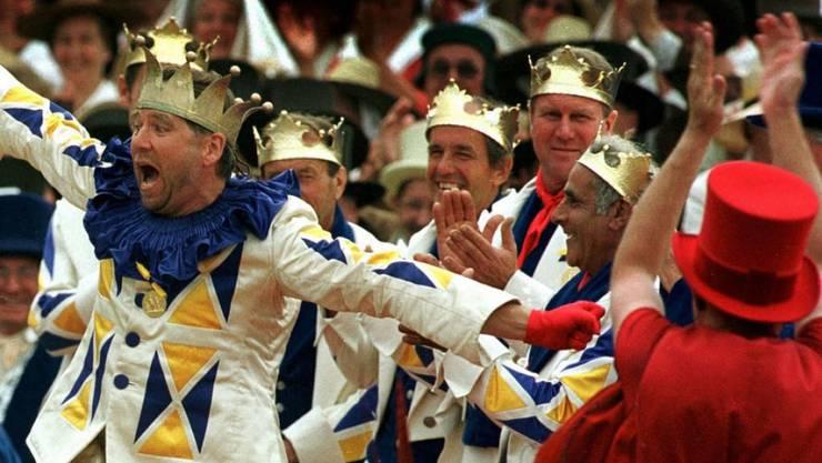 Die Krönungszeremonie am letzten Winzerfest 1999. (Archiv)