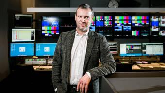 SRF-Unterhaltungschef Stefano Semeria in der Regie von Tele M1: «Eine älter werdende Gesellschaft ist nicht an die Fernbedienung gekettet.» sandra ardizzone