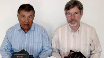 Leidensgenossen in Libyen: Hamdani (links) und Göldi (Archiv)