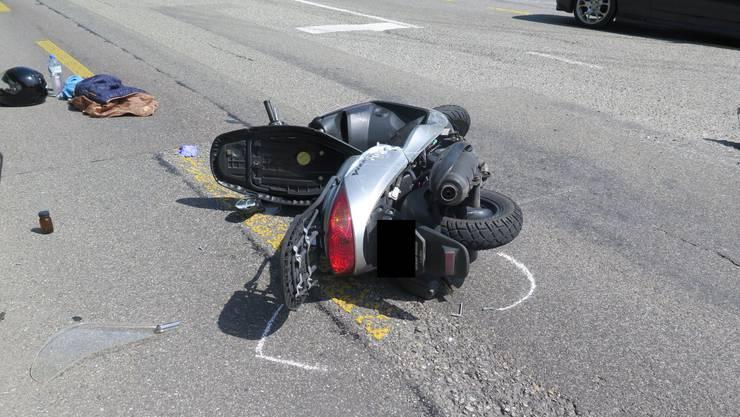 Der Unfall ereignete sich auf Höhe der Einmündung Neumattweg.