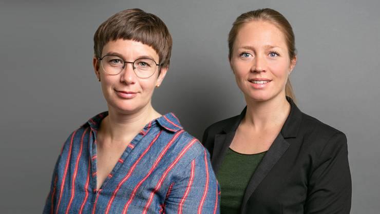 Doris Kleck (l.) und Anna Wanner, Co-Leiterinnen der Bundeshausredaktion von CH Media, werden als beste Politik-Journalistinnen ausgezeichnet.