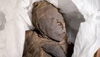 """Der internationale Museumstag vom nächsten Sonntag steht unter dem Motto """"Sensible Themen"""". Eines davon sind Mumien, wie sie derzeit das Kunsthistorische Museum in Delsberg zeigt. (Handout)"""