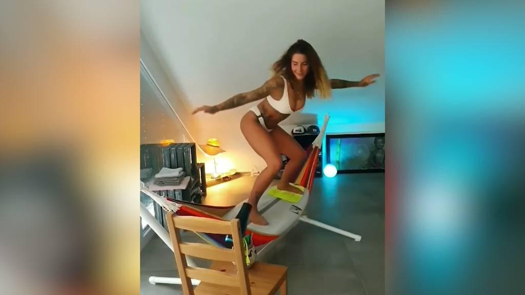 Schweizerin geht mit Surfvideo viral