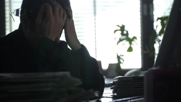 2017 litten 21 Prozent der Angestellten unter Stress.