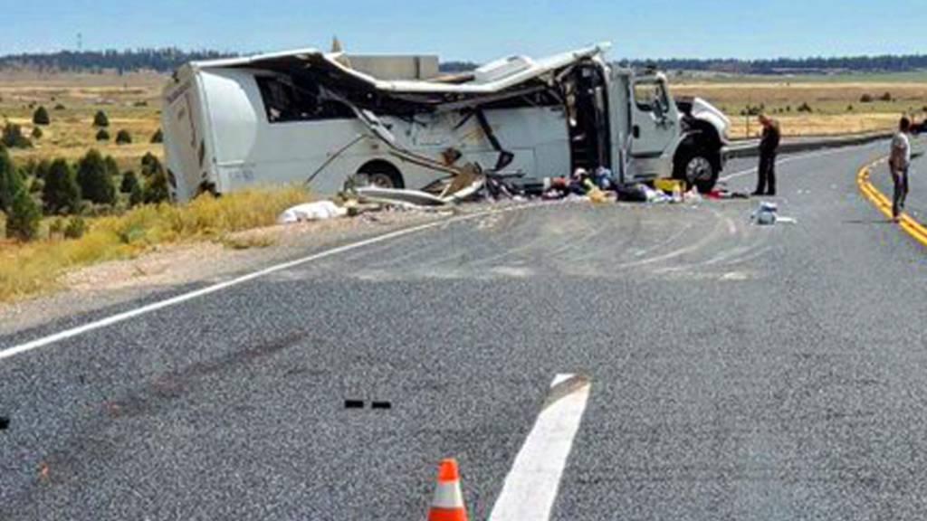 Vier Tote und Verletzte bei Busunglück in den USA