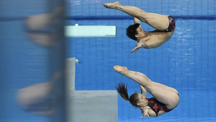 Synchron und erfolgreich: Michelle Heimberg und Jonathan Suckow gewannen EM-Bronze vom 3-m-Brett