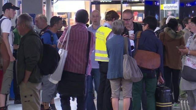 Krähe legt Bahnhof Bern lahm