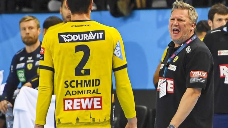Viel Frust für Andy Schmid und Nikolaj Jacobsen (rechts) in der Champions League