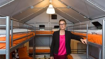 Asylunterkünfte: Susanne Hochuli und ihr Departement rüsten sich für die Feiertage.
