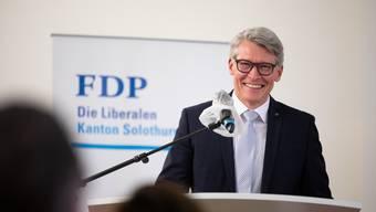 Der strahlende Sieger: Die Mehrheit der FDP-Mitglieder an der Parteiversammlung entschied sich für Markus Schüpbach.