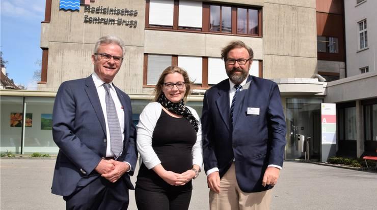 Sie blicken – trotz manchmal rauem Gegenwind – zuversichtlich in die Zukunft (von links): Ruedi Steiner, Sandra Weingart und Andreas Meyenberg.