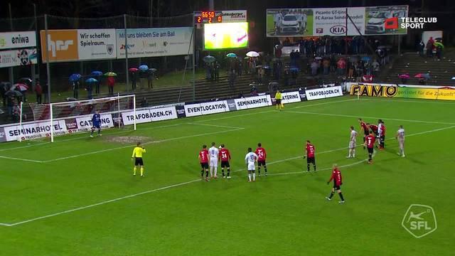 Challenge League 2018/19, Runde 17, FC Aarau - Vaduz, 2:1 von Milan Gajic