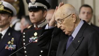 Staatspräsident Giorgio Napolitano konnte die Parteien bisher nicht dazu bringen, ihre Positionen zu verändern (Archiv)