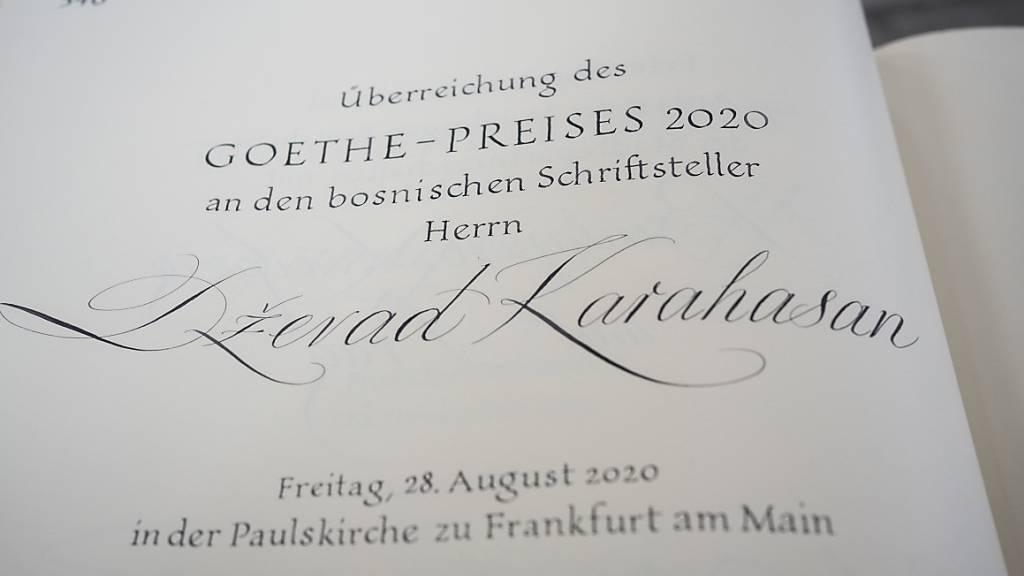 Schriftsteller Dževad Karahasan erhielt Goethepreis 2020