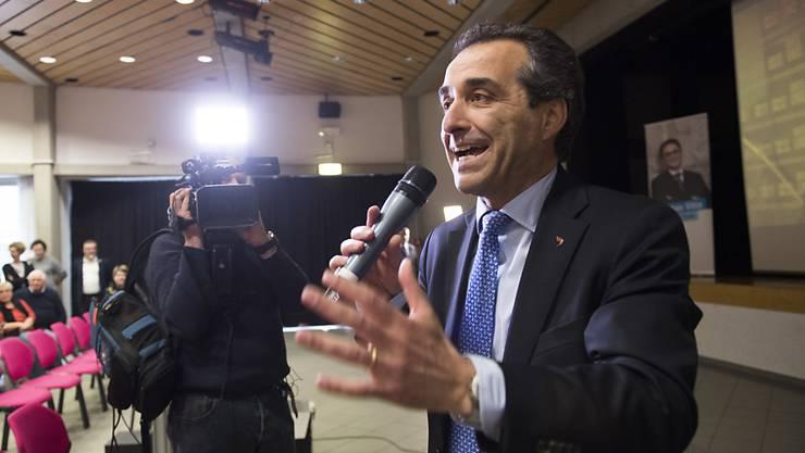"""Der Tessiner FDP-Präsident Bixio Caprara bezeichnete den Entscheid der FDP zum Wahlbündnis mit der CVP und der GLP als """"historisch"""". (Archiv)"""
