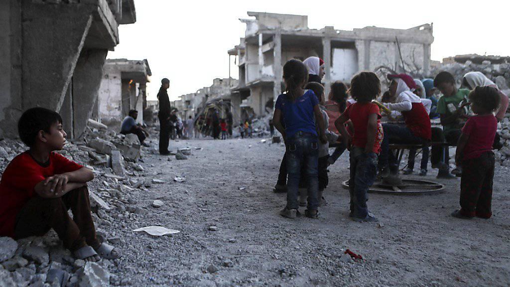 Grosse Teile Syriens liegen nach sechs Jahren Bürgerkrieg in Trümmern.