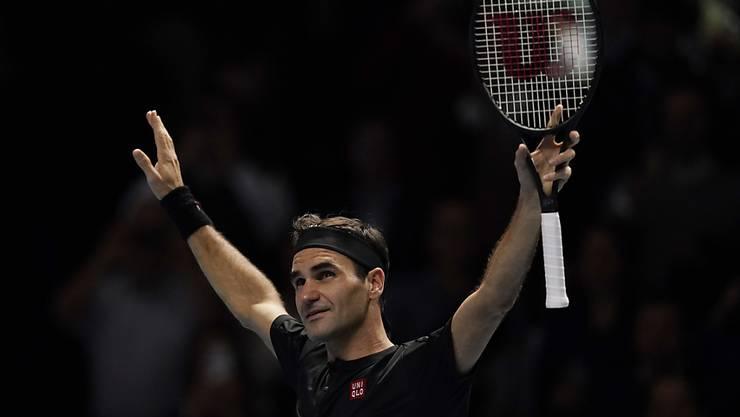 Viel Zuversicht vor dem Halbfinal gegen Stefanos Tsitsipas oder Rafael Nadal: Roger Federer hatte nach dem Sieg gegen Novak Djokovic allen Grund, zufrieden zu sein.