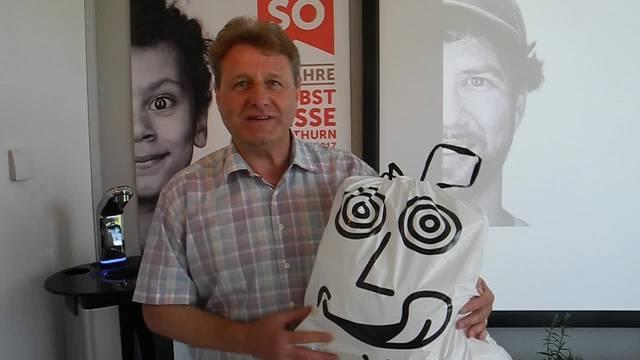 Die Kebag ist mit der Sonderschau an der HESO präsent. Direktor Markus Juchli: «Abfall kann auch etwas Lustiges sein.»