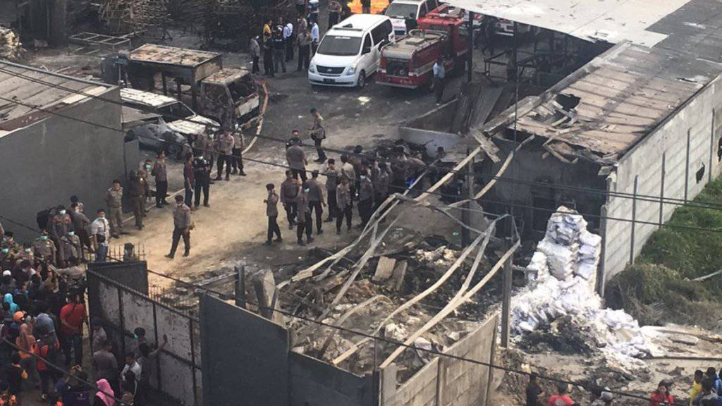 Die Feuerwerksfabrik wurde fast komplett zerstört: Es dauerte Stunden, bis die Einsatzkräfte den Brand unter Kontrolle hatten.