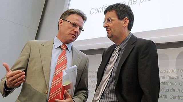 SBB-Chef Andreas Meyer (links) und BAV-Direktor Peter Füglistaler im Gespräch