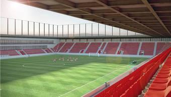 Das neue Fussballstadion umfasst 10'000 Plätze.