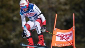 Mauro Caviezel fehlen im Super-G in Lake Louise nur 0,21 Sekunden zum Sieg