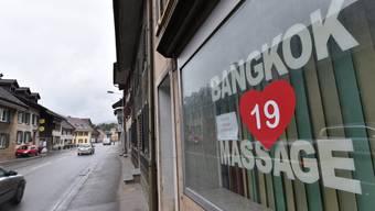 Seit August 2015 geschlossen: Das Sex-Studio «Bangkok Massage» in Klus-Balsthal.